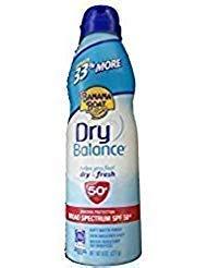 Banana Boat Dry Balance Sunscreen Spray SPF 50+, 8oz Each (8oz 2 Pack) 8 Ounce Banana Boat