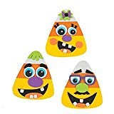 Fun Express 12 Goofy Silly Face Candy Corn Magnet Halloween Craft ()