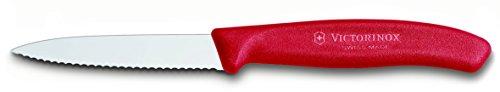Victorinox 6.7631 Gemüsemesser SwissClassic, Wellenschliff 8 cm, rot