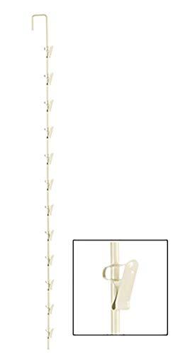 SSWBasics Metal Spring Clip Merchandiser Strip - 12 Hook