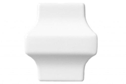 Square Collars - White Smooth - Railing Picket Aluminum