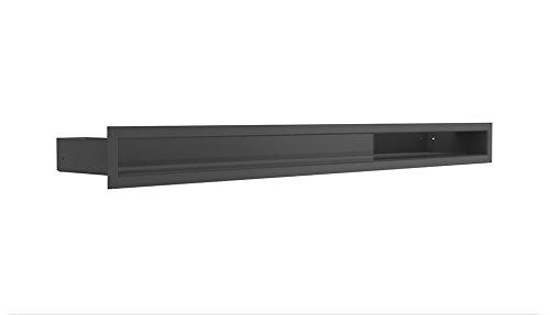 Kratki L/üftungsgitter Kamingitter Luft schwarz 6 cm x 80 cm