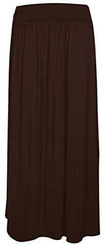 Crazy Girls Womens Pleated Fold Over High Waist Gypsy Long Maxi Skirt UK 8-22