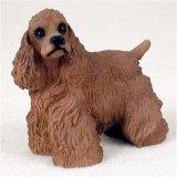 Cocker Spaniel, Brown Original Dog Figurine (4in-5in)