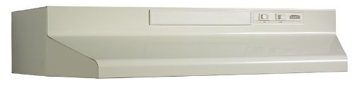 Broan 433618 ADA Capable 4-Way Convertible Under-Cabinet Range Hood, 36-Inch, Almond