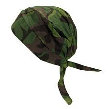 24PCK-Tie Hat Doo Rag - 100% Cotton - JNGCAMO-One-Size