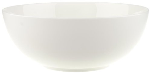 (Anmut Round Vegetable Bowl by Villeroy & Boch - Premium Bone Porcelain - Made in Germany - Dishwasher and Microwave Safe - 8.5 Inches)