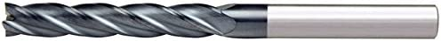 Alfa Tools SCL60659AL 3//8X3//8 4 Flute Single End Center Cutting Long AlTiN Carbide End Mill Made In USA,