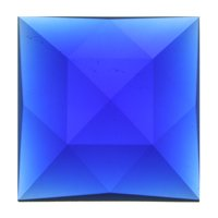 Stained Glass Jewels - 50mm Square Faceted - Dk Blue