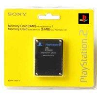 Tarjeta de memoria PlayStation 2 de 8 MB (negro)