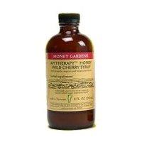 Jardins Honey Honey Syrup Apithérapie ruchers écorce de cerisier sauvage, écorce de cerisier sauvage 4 oz