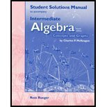 Intermediate Algebra : Concepts and Graphs, McKeague, Charles P., 0030339049