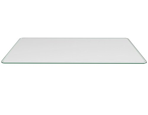 Milan RC165210BECT 16 x 52 Rectangle Glass Top 3 8 Thick with 1 Bevel Edge