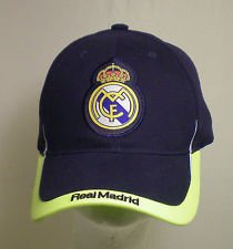 REAL MADRID FOOTBALL CLUB OFFICIAL LOGO SOCCER ADJUSTABLE CAP NAVY by ()
