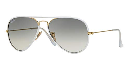 Ray Ban Aviator Full Color RB 3025JM 146/32 58mm White/Grey Gradient ()