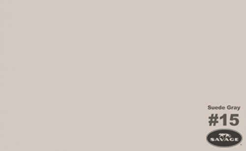 Savage Seamless Background Paper, 107'' wide x 50 yards, Suede Gray, #15 by Savage