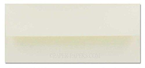 - Cranes Crest (Wove) - NO. 10 Envelopes (Square Flap) - 100% Cotton - Natural White - 50 PK