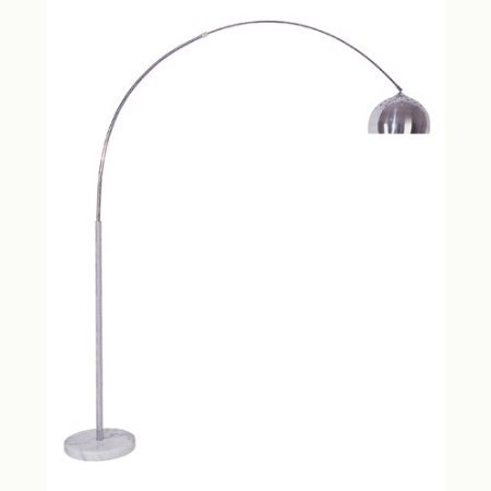 HPP Inc Arch Floor Lamp with White Marble Base in Chrome Finish - Marble Chrome Wall