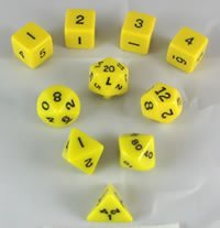 2019新作モデル Yellow Opaque Polyhedral Dice in Set 10pc Set B003DWQ54W in Tube Tube B003DWQ54W, ロートアルミのブルーティアラ:a6e28df4 --- cliente.opweb0005.servidorwebfacil.com