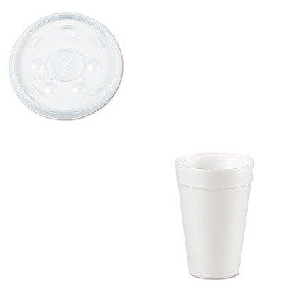 KITDRC32SLDRC32TJ32 - Value Kit - Dart Plastic Lids (DRC32SL) and Dart Drink Foam Cups (DRC32TJ32) by Dart