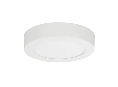 (Aspen Creative 63006M-1 LED Medium Flush Mount Ceiling Light Fixture, Contemporary Design in White Finish, Frosted Glass Diffuser, 7