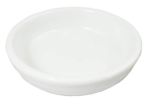 Porcelain Sauce Dish - (Pack of 12) Super White Round Ribbed Porcelain Sauce Dishes OT-2635