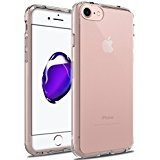 iPhone 7 Case, LK [Air Hybrid] Ultra Slim Shockproof [Crystal Clear] Back Protective Case + TPU Bumper Cover for Apple iPhone 7 (Clear)