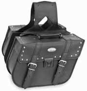 River Road Motorcycle Accessories - River Road Rigid Zip-Off Saddlebag with Security Lock - Slant Studded 108975
