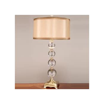 vintage crystal table lamps ebay antique waterford this item dale aurora lamp brass fabric shade with prisms