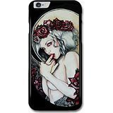 New Goth Scary Dark Punk Rock Style Tattoo Artwork Woman Naked Flowers case for iPhone 6 Plus 6S Plus