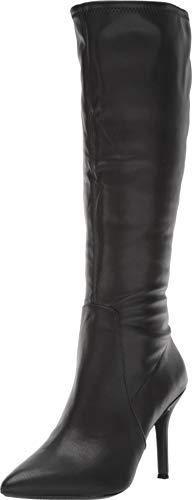 Nine West Women's Fetta Wide Calf Black Synthetic 1 8 M US