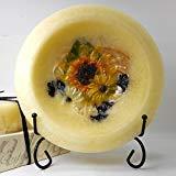 - Habersham - Sunflower Lemon Vanilla Wax Pottery Bowl 7 Inch With Free Stand