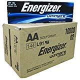 Energizer AA Ultimate Lithium 144 Batteries ''In Original Box''