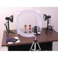 RPS Desktop Studio 20X20 Inch Tent With Lights and Stands and Tripod - RPS RS-4300