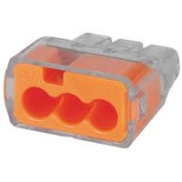 IDEAL 30-1033 Push-In Connector, 3-Port, 12-20 AWG, Orange, Box of 100 by Ideal Industries