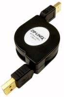 (Cable, Retractable, USB 2.0 Compatible, A-A, M-M, 48