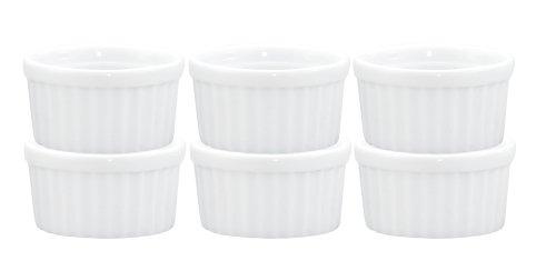 Fine White Porcelain (HIC Ramekins, Fine White Porcelain, 2.5-Inch, 2-Ounce Capacity, Set of 6)