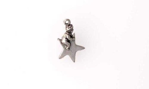 (Sterling Silver 3-D Twinkle Twinkle Little Star Charm - Jewelry Accessories Key Chain Bracelet Necklace Pendants )