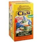 Celestial Seasonings 664599 Celestial Seasonings Decaffeinated Black Tea India Spice Chai - 20 Tea Bags