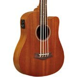 Gold Tone GT-Series M-Bass/FL 4-String Acoustic MicroBass Fretless for Electric Bass Guitar - Natural
