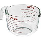 Pyrex, Prep-ware 8-Cup Measuring Cup Made of glass, red,