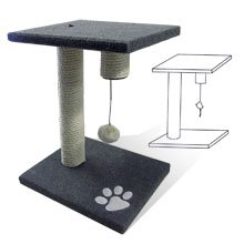 Cat Scratching Post Tree with Toy from Pit Bull