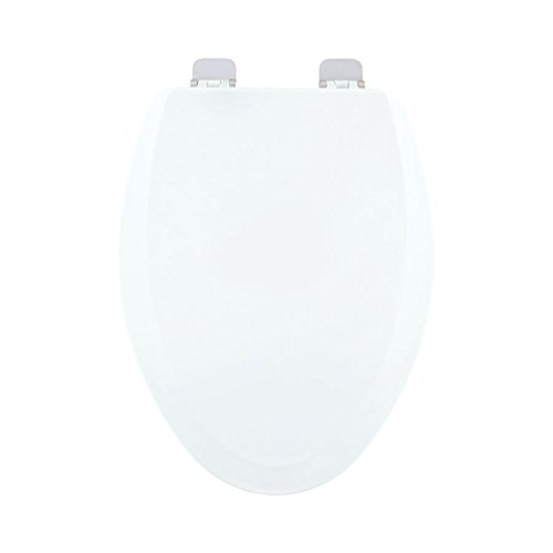 Centoco 900BN-001 Wood Elongated Toilet Seat with Closed Front, White