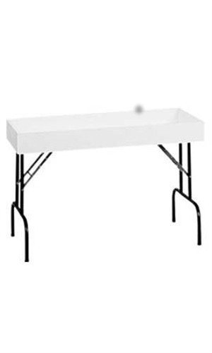 New Retails White Folding Dump Table 24''W x 48''L x 4½†x 30''H