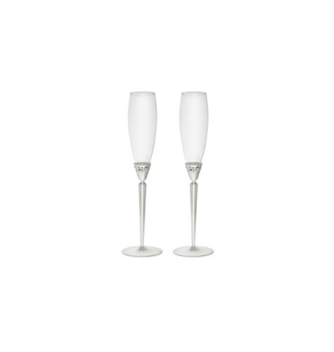 Monique Lhuillier Waterford Modern Love Toasting Flutes (Set of ()
