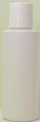 4 oz White Plastic PVC Bottle with white flip cap