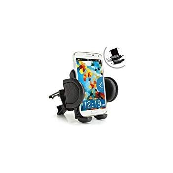 Smartphone Car Air Vent Mount Holder with Adjustable Display and 360 Degree Rotation - Works with LG G5 , Motorola DROID Turbo 2 , Apple iPhone 6s & More ...