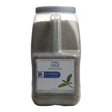 McCormick Rubbed Sage - 2 lb. container, 3 per case