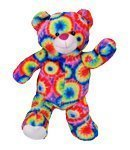 (Tie Dye Psychedelic Rainbow Recordable Talking 8 Hipster Teddy Bear by BEARegards)