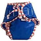 Image: Kushies Swim Diaper | Outer shell of 100% nylon | Gussetted legs for comfort | Adjustable ties for secure fit
